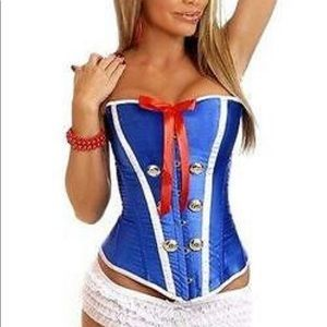 🆕 Daisy Corsets SAILOR Blue XL